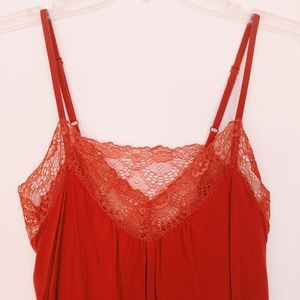 Anthropologie Rust Orange Lacey Camisole Tank